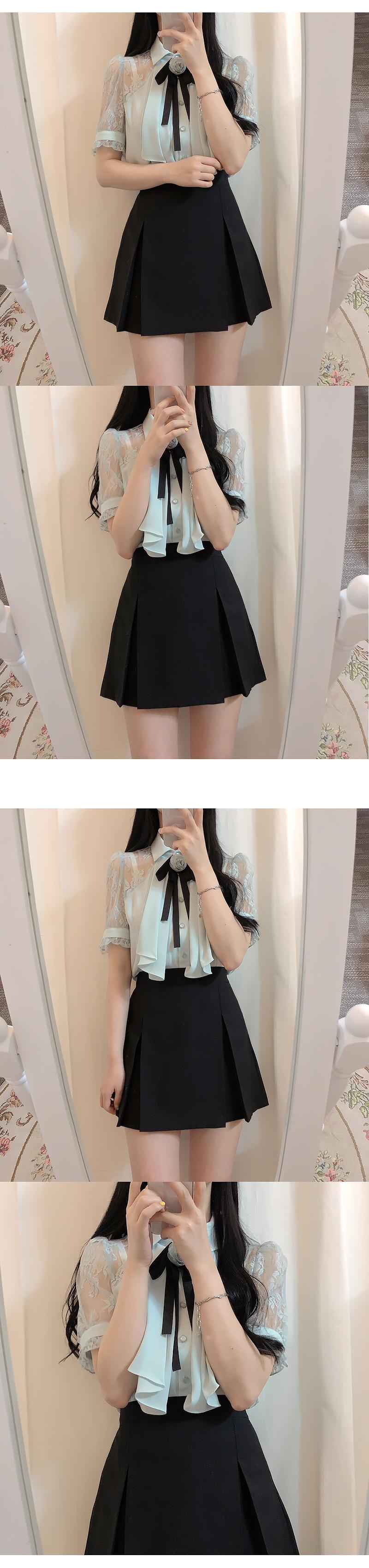 Corsage set lojun lace blouse