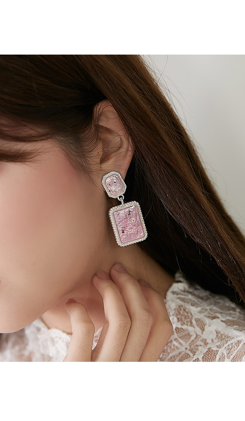 Micro-genuine earrings