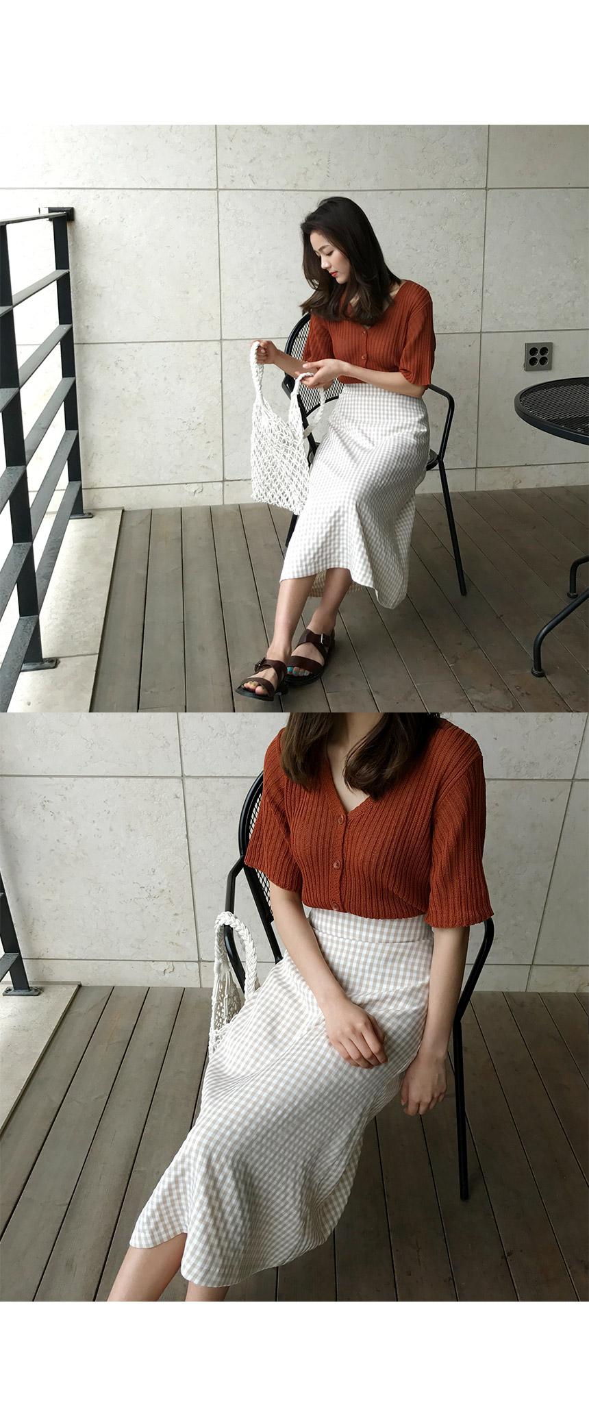Checkul skirt