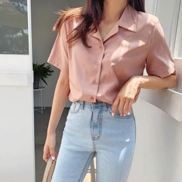Wrinkle Mary short-sleeved shirt