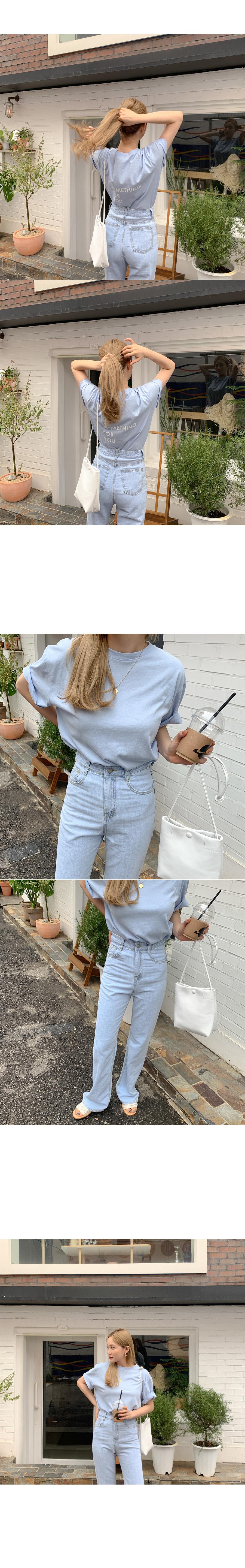 Mousse Lettering Cotton Short Sleeve Tee