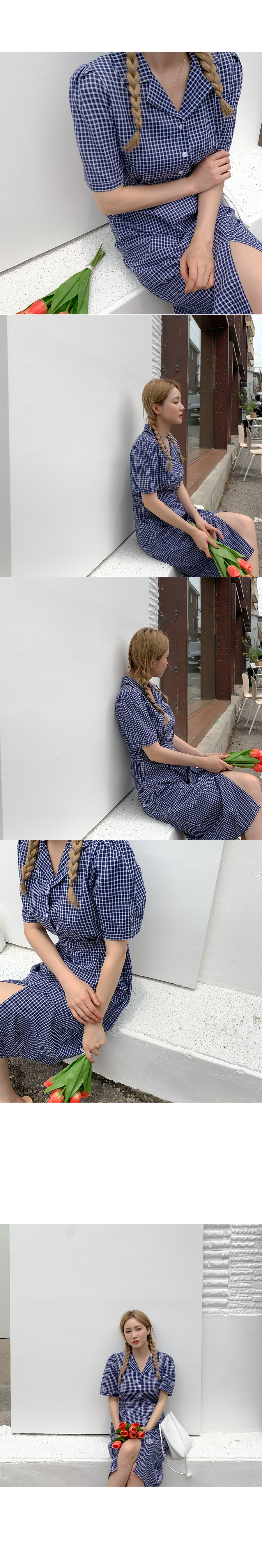 Fuki check color dress