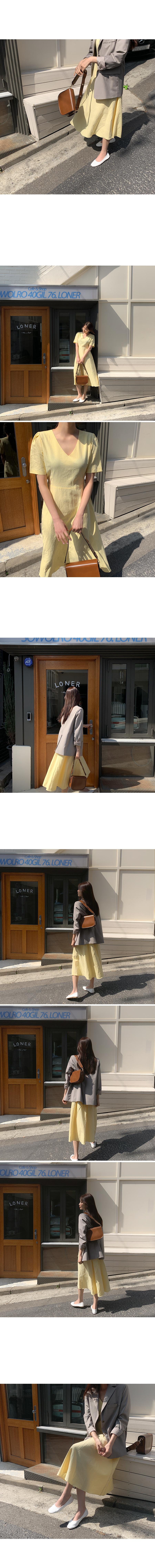Healing V Linen Dress