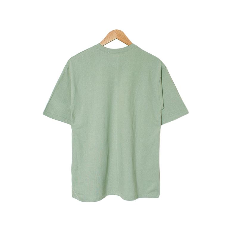 Rug loose round printing t-shirt