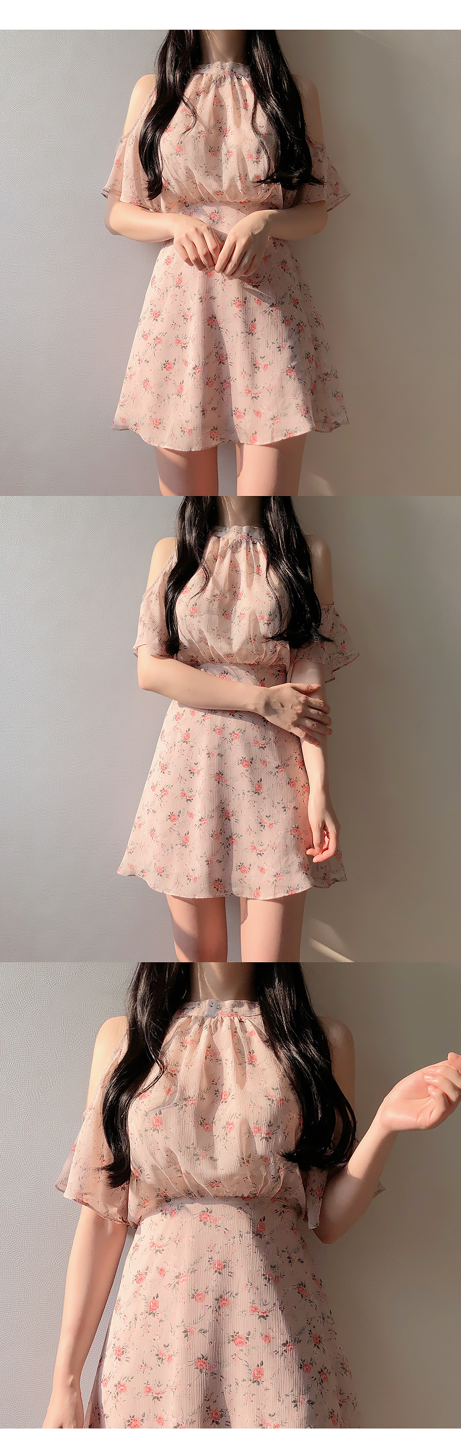 Floral Shoulder Top Dress