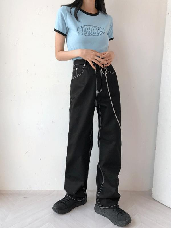 Stitch chain pants