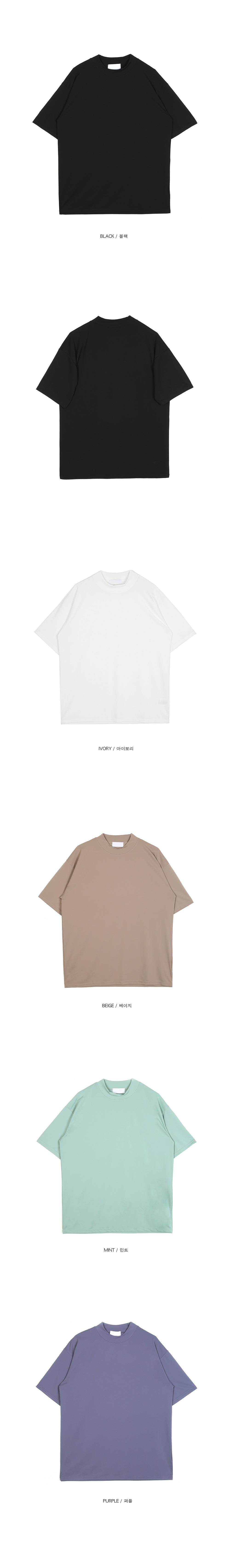 cozy mock-neck 1/2 T (5 color) - men