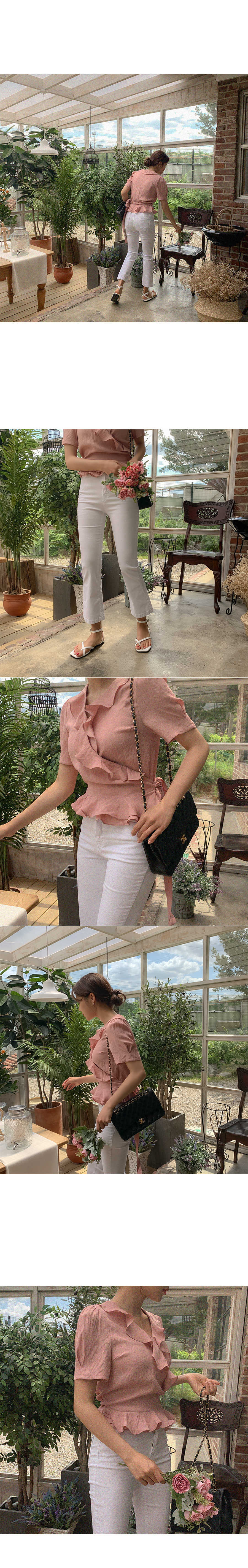 Miller frill wrap blouse