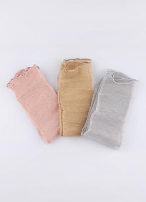 밀키 시스루 삭스 (3colors)
