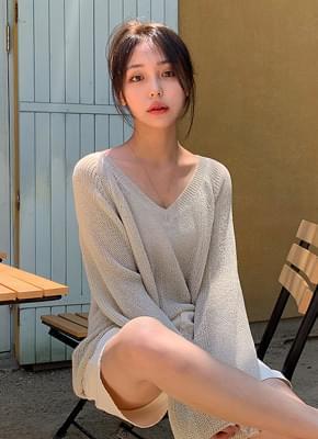 Ruzpit V neck Summer knit