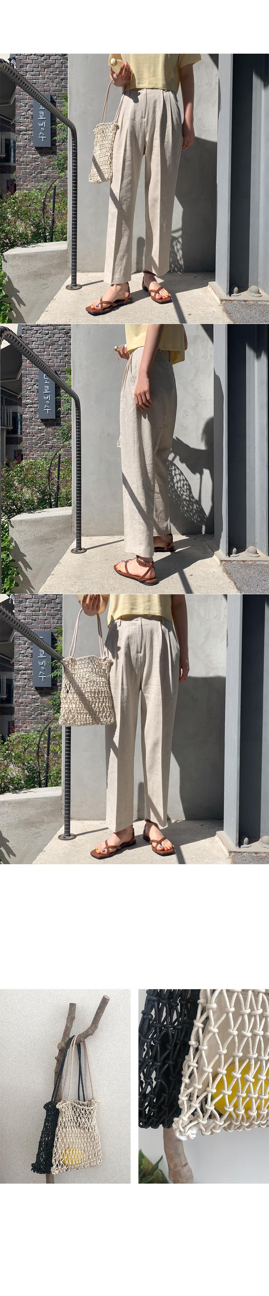 Cove pin-tuck linen pants