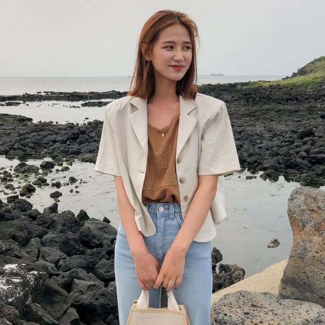 sensual linen short jacket