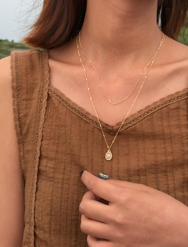 bright cubic layered necklace