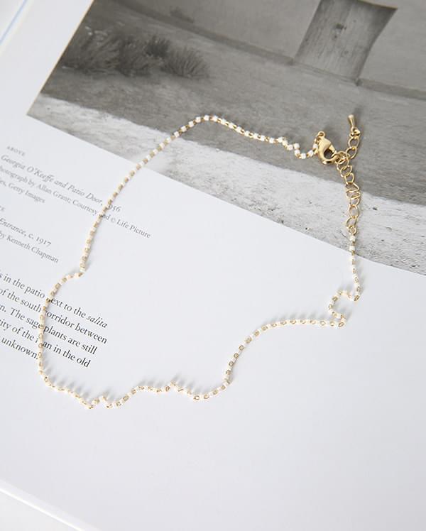 lovely beads gold choker