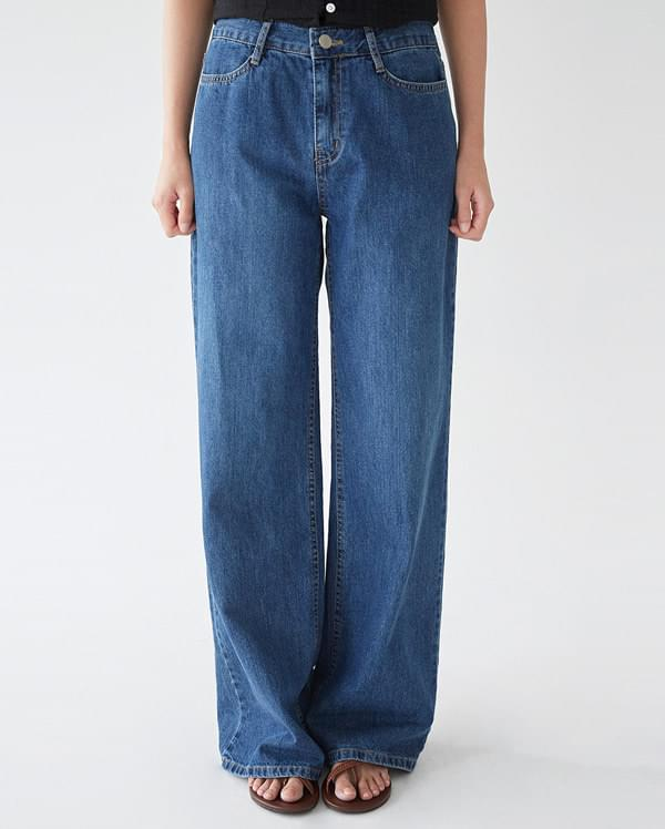 all wide denim pants