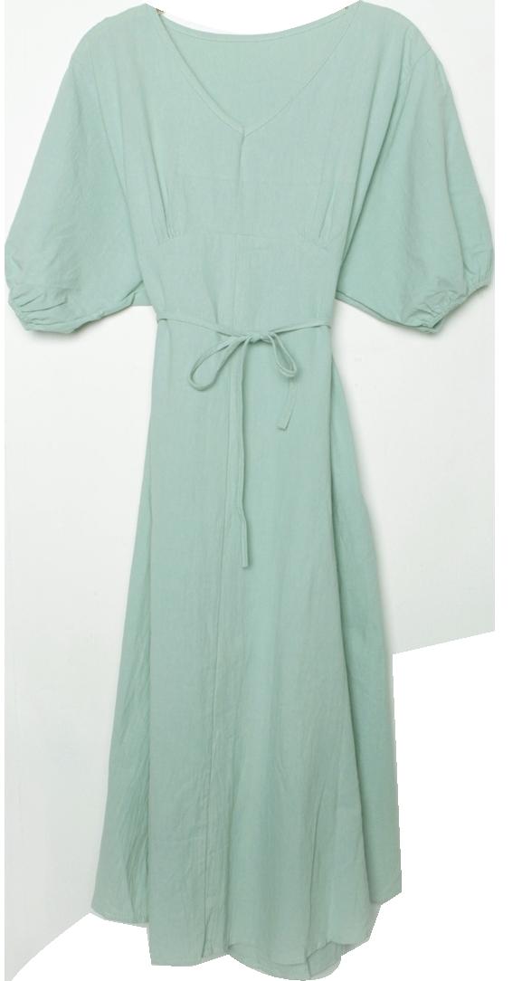 Memory linen long dress