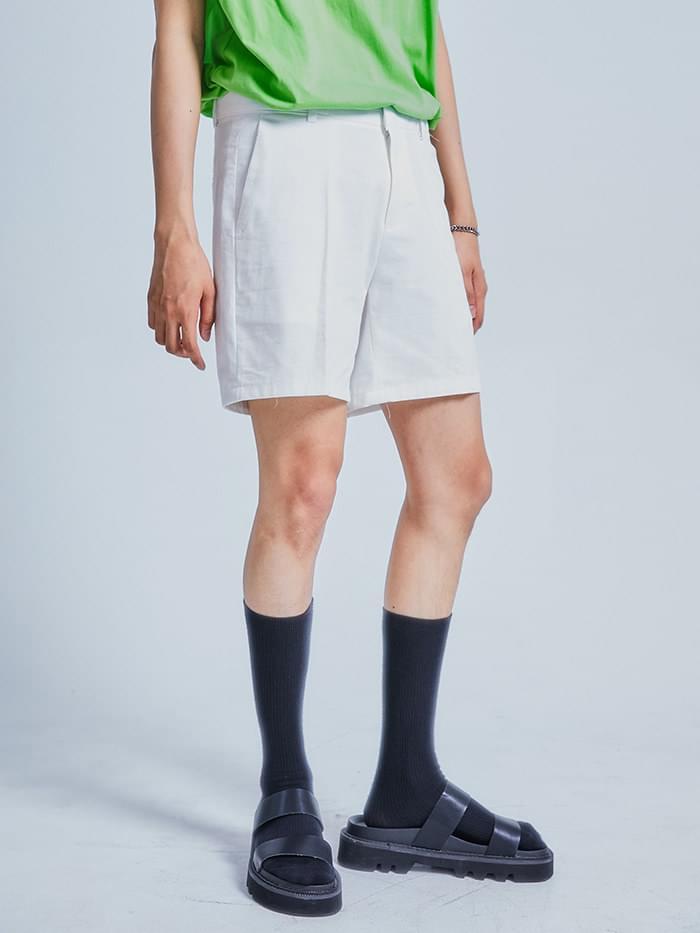 linen half slacks - men