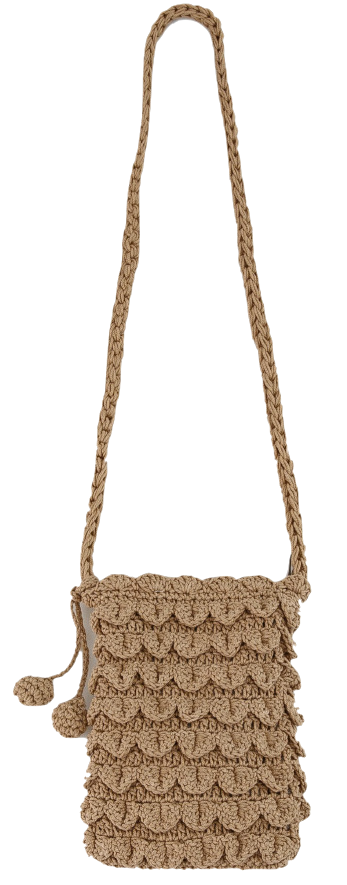 minimal knit cross bag