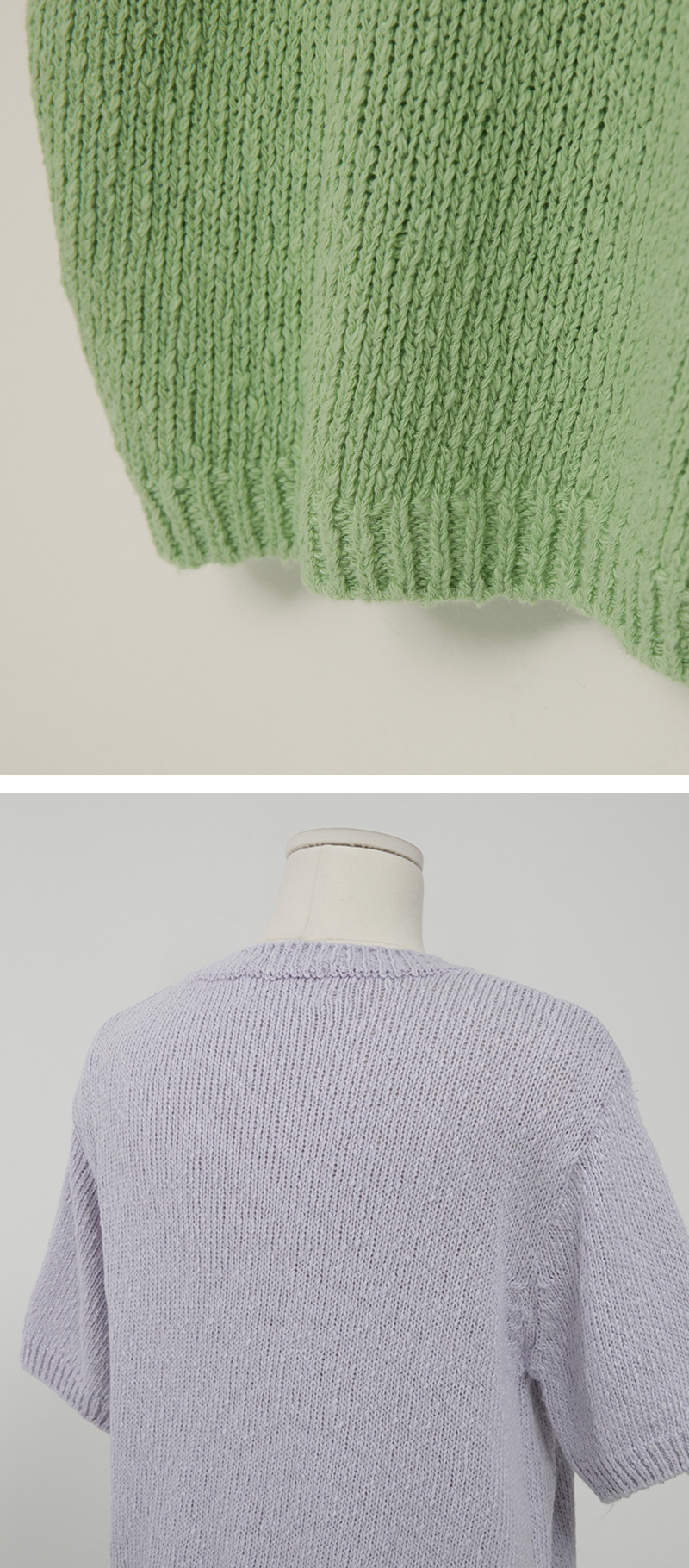 Cotton candy crop knit_S