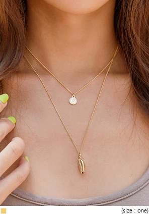 MOVA GOLD CLAM COIN NECKLACE