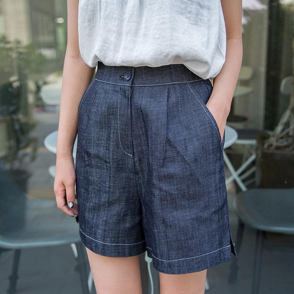 Linen pin tuck pants 4 pants