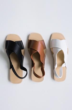 Olive X-strap sandals
