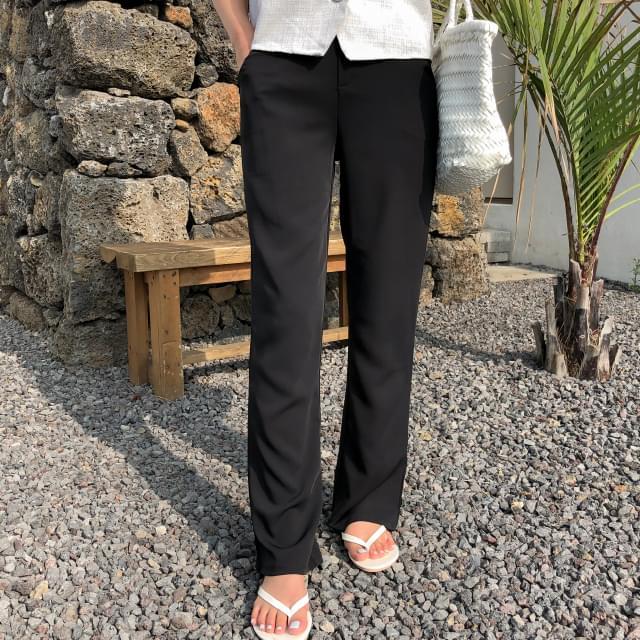 daily semi boots-cut slacks