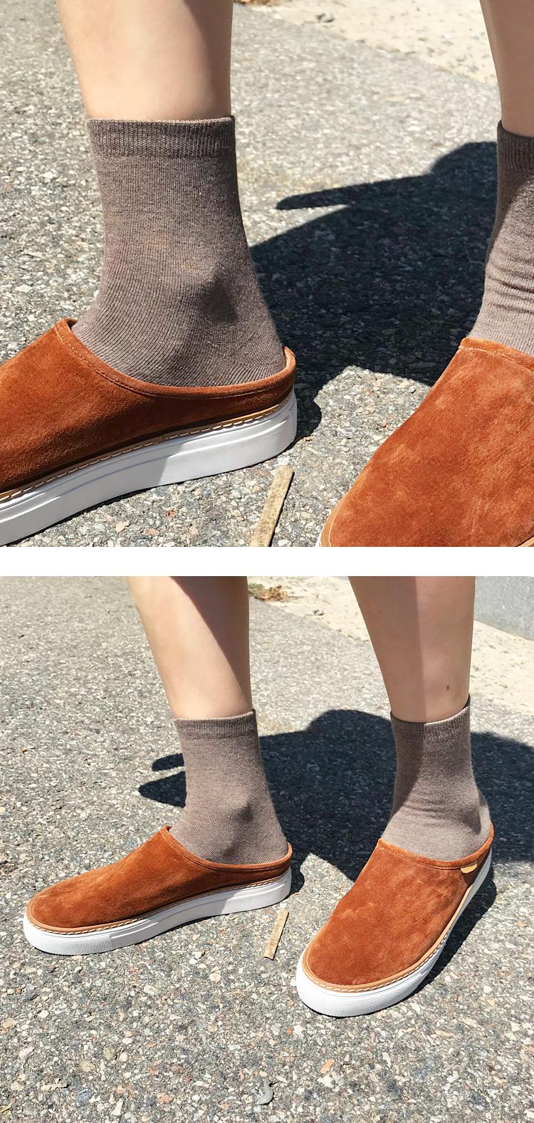 Peach soft cotton socks_M (size : one)