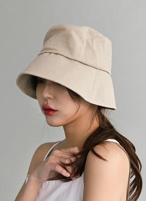Linen bucket hat