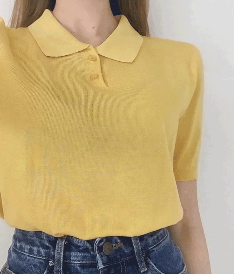 Button cheese collar shirt