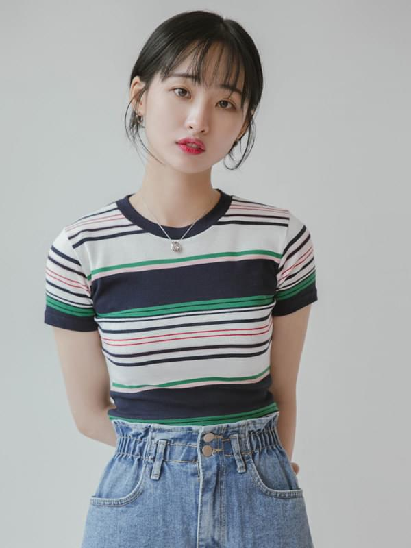 Neon Striped T-shirt