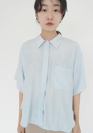 flow silhouette half shirts