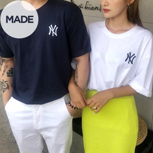 New York Embroidery Over Buffet Tees