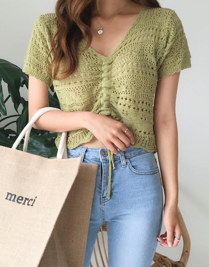 Summer Lace Knit Top