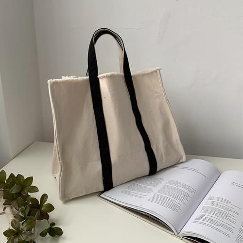 Black Line Square Bag