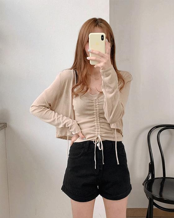 Summer ShirringNash cardigan set-3color