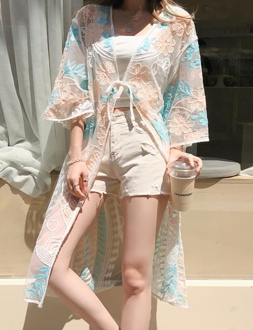 Flower-filled fragrant robe