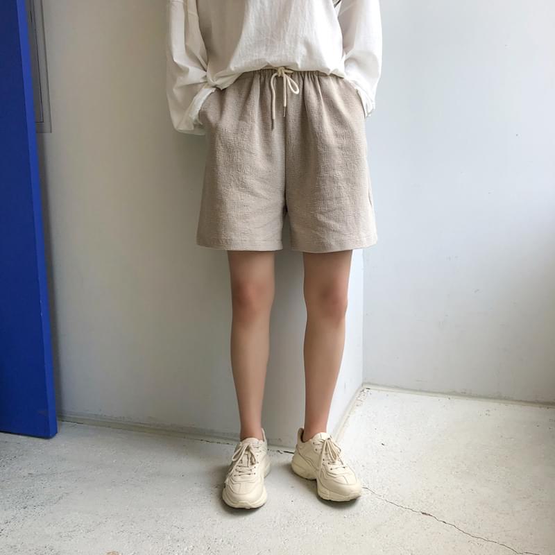 Tweed banding pants