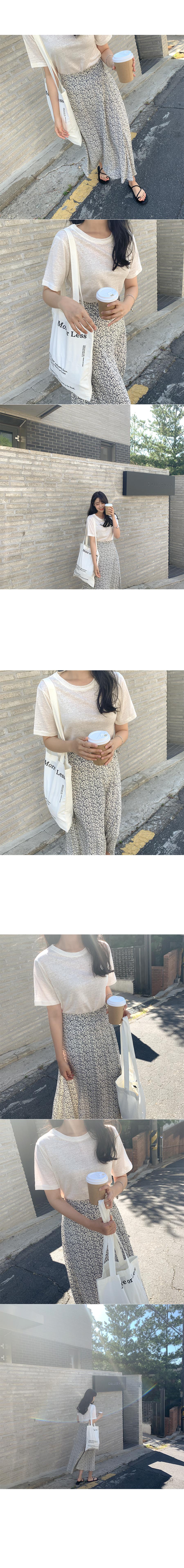 Pink Linen Short Sleeve Tee