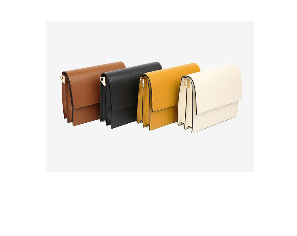 three square shoulder bag