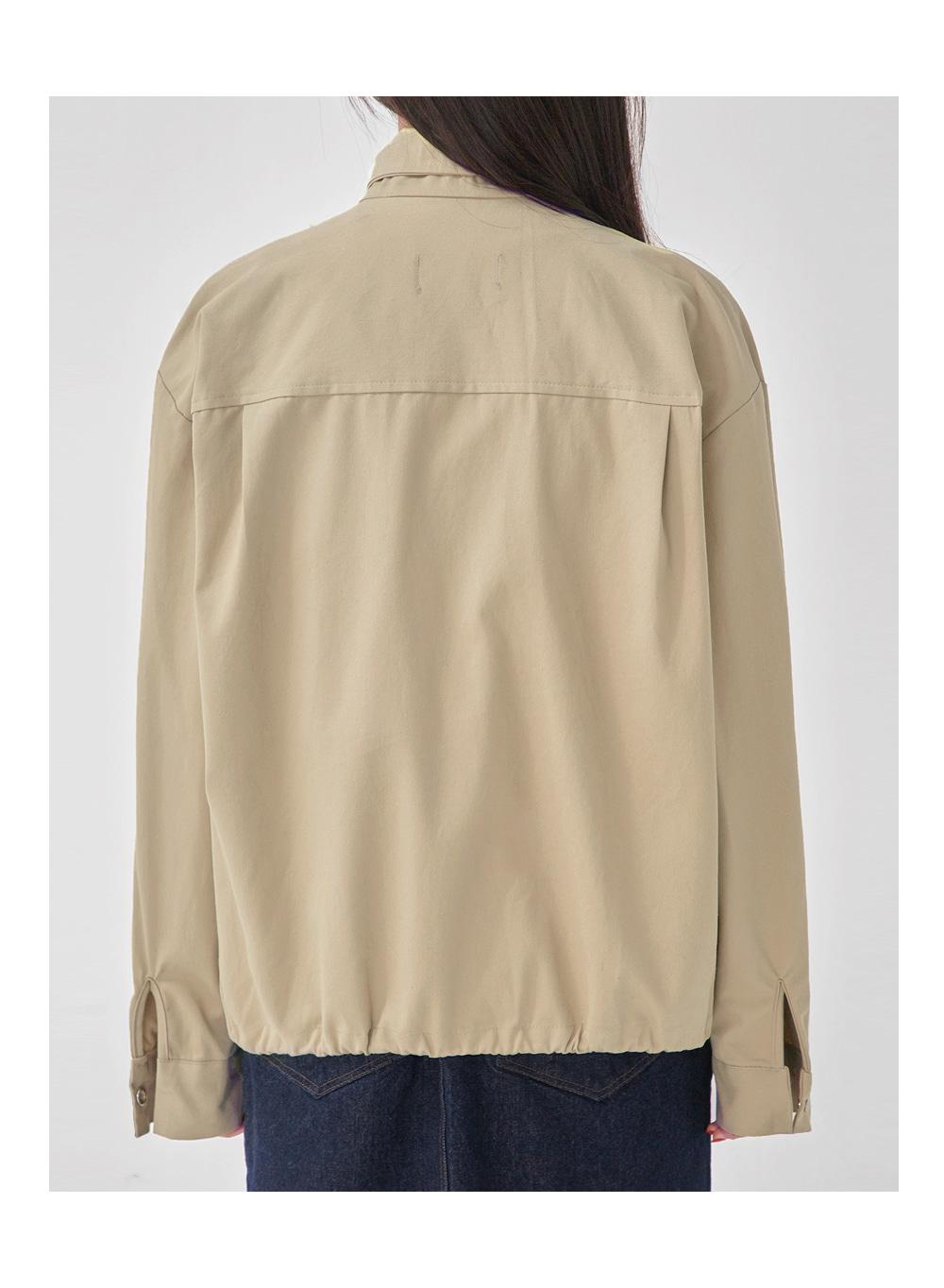 low short blouson jumper