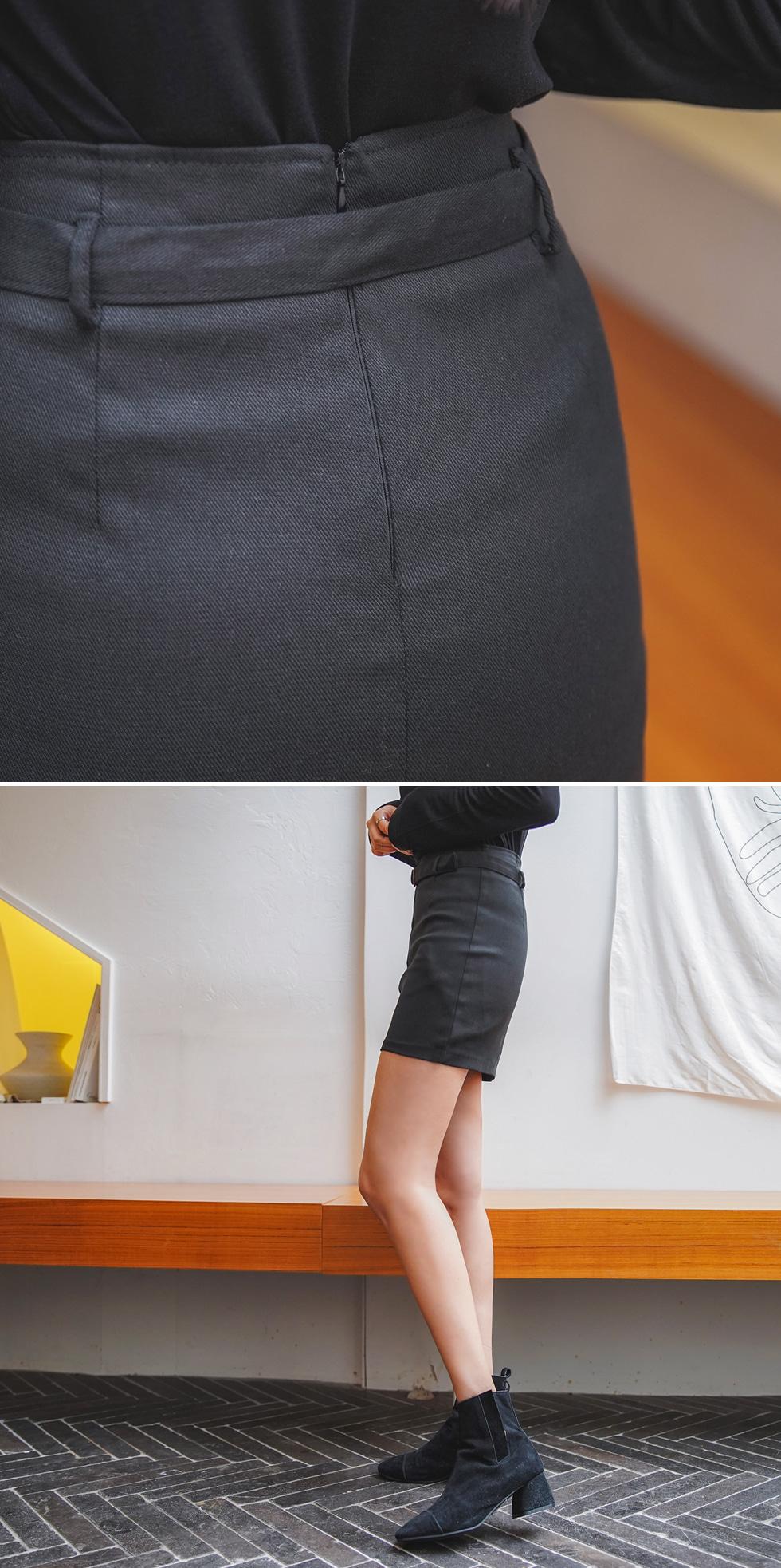 Road Mini Belt Skirt