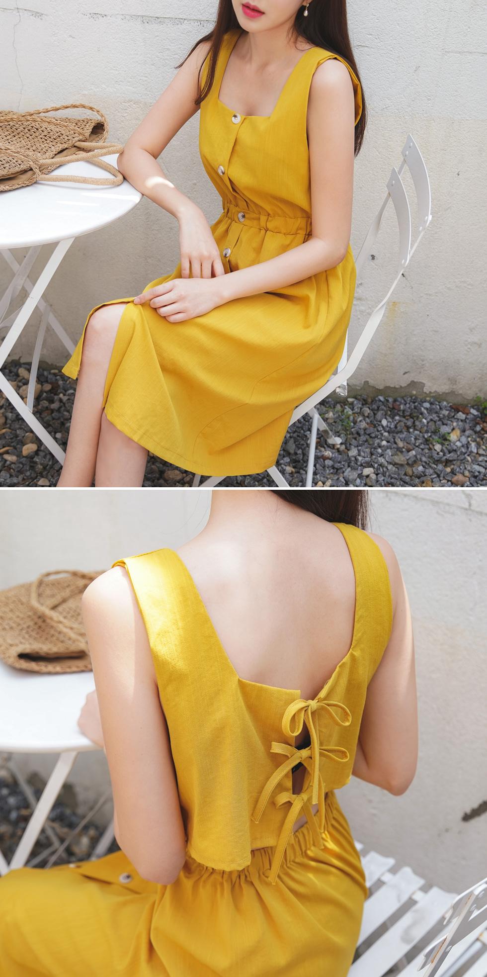 Sunset Ribbon Dress
