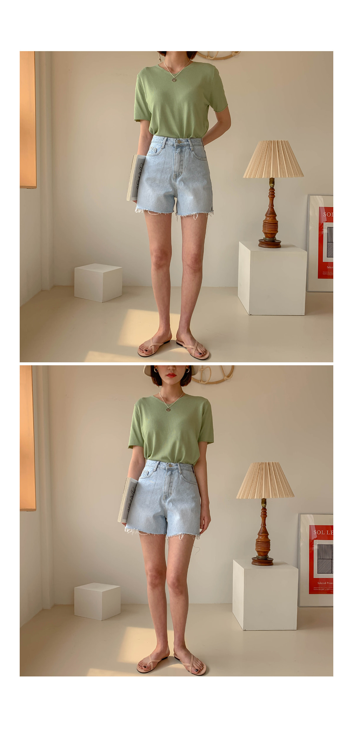 Knit Shirt V-neck short sleeve