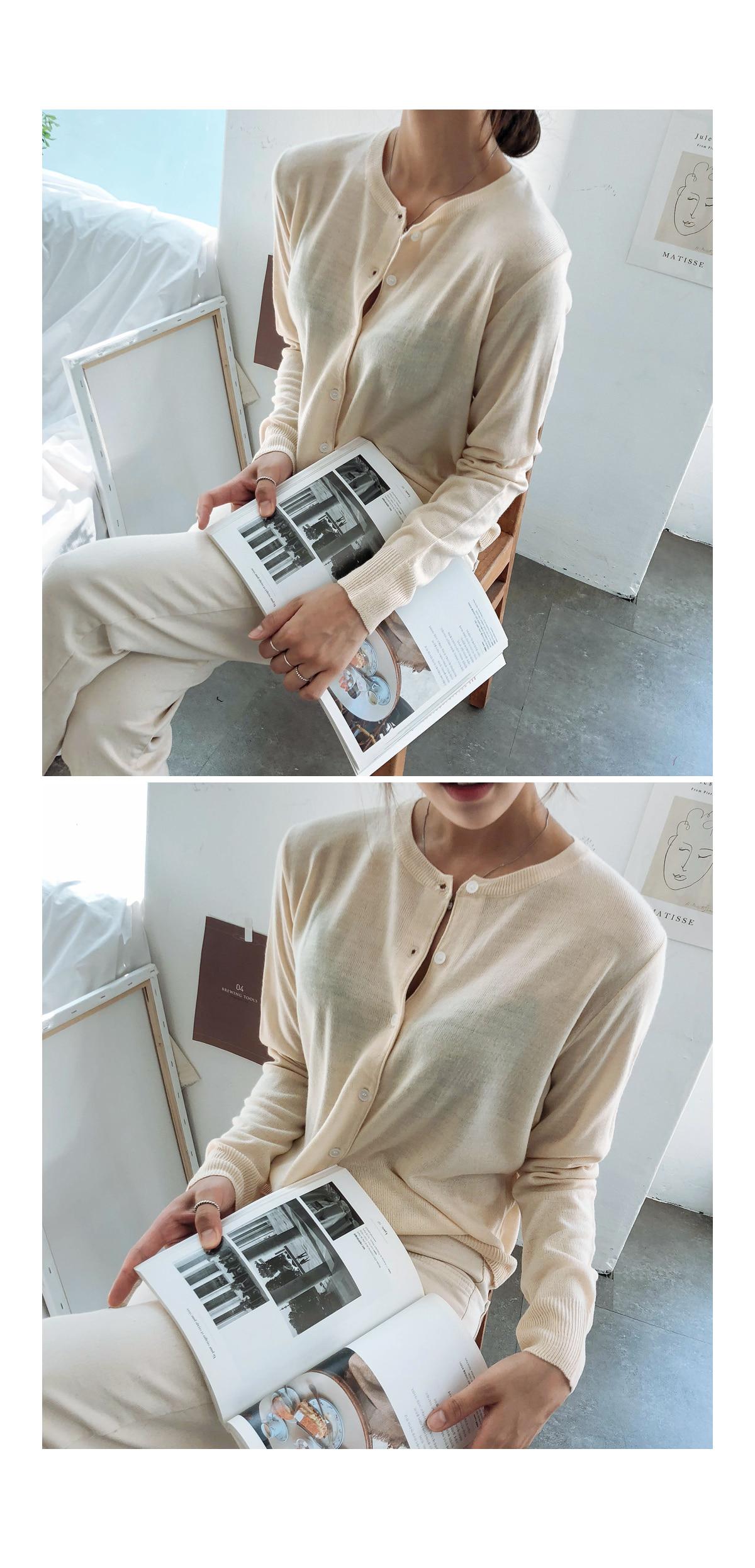St-knit cardigan
