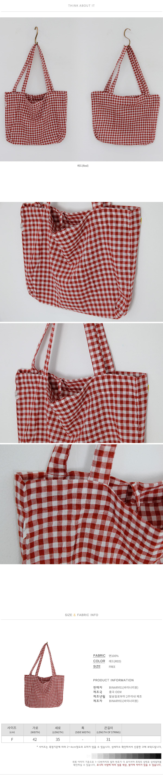 Gingham Check Eine Eco Bag
