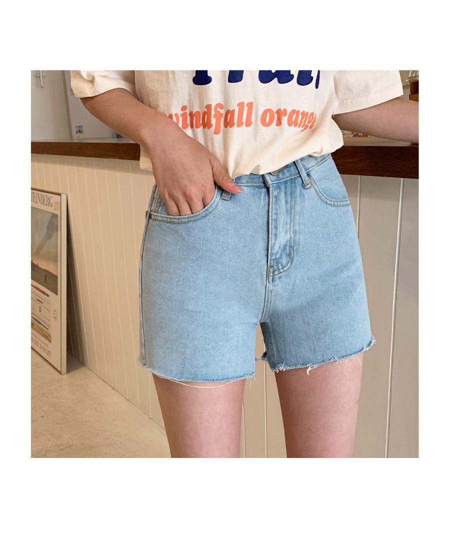 Lane denim shorts