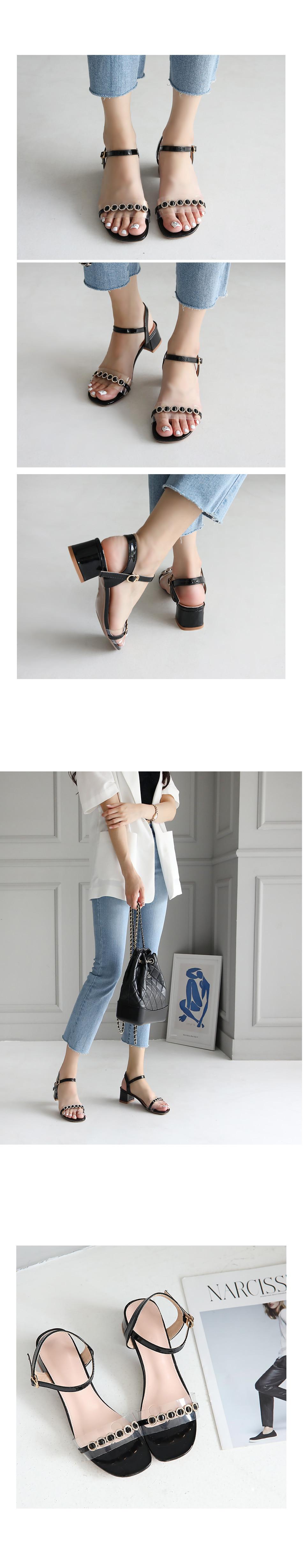 Jielan PVC strap sandals 5cm