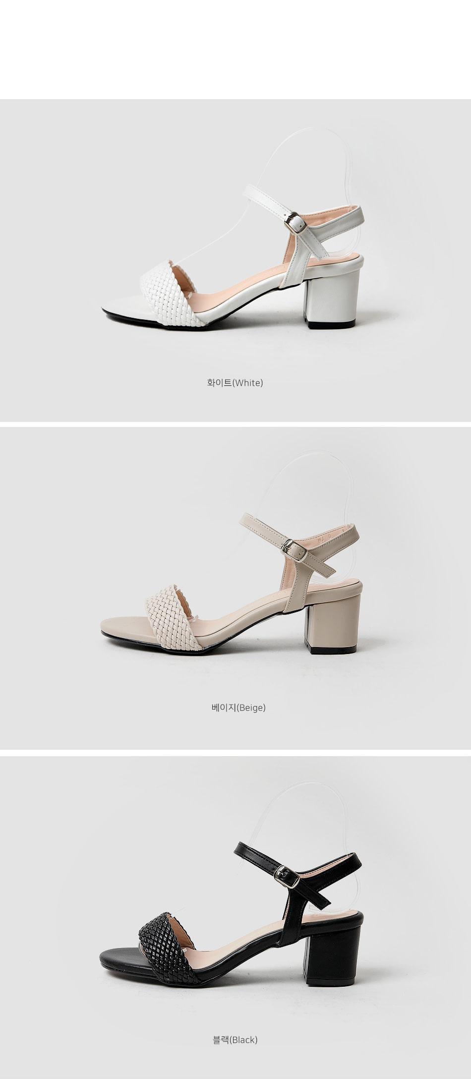 Ripelon strap sandals heel 5cm