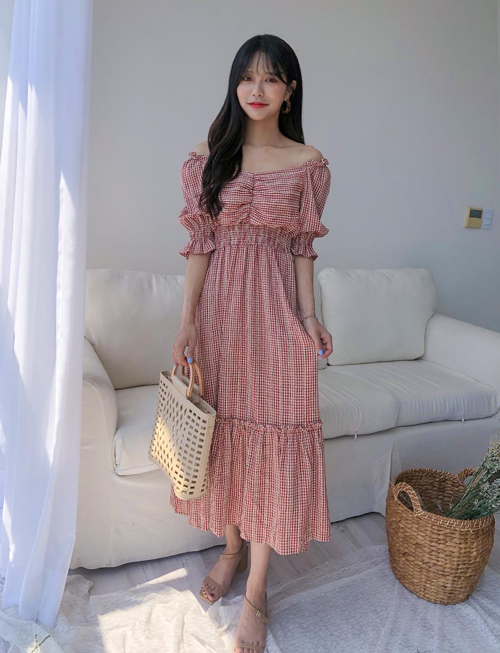 Check Trap Dress
